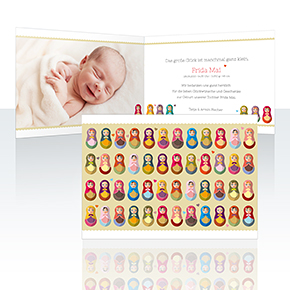 Geburtskarten - Matroschka