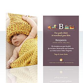 Geburtskarten - Initiale