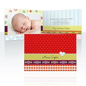 Geburtskarten - Patchwork