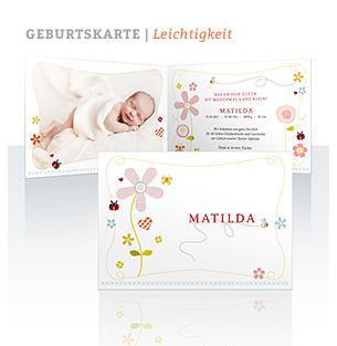 Geburtskarte Leichtigkeit