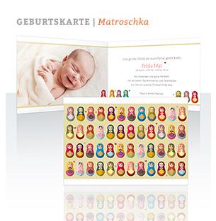 Geburtskarte Matroschka