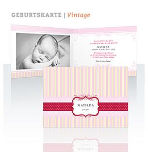 Geburtskarte Vintage