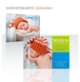 Geburtskarte Zielsicher