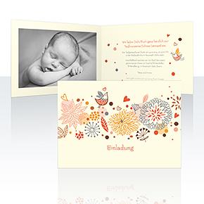 Einladungskarten - Blumenmuster