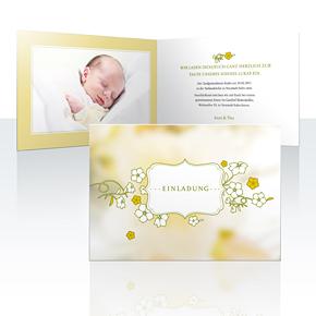 Einladungskarten - Blumenbild