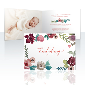 Einladungskarten - Acuarela Flores
