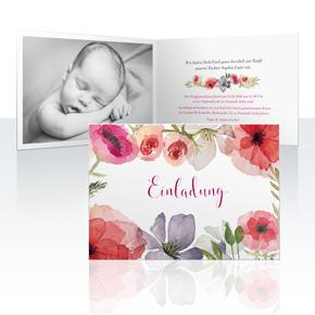 Einladungskarten - Flora